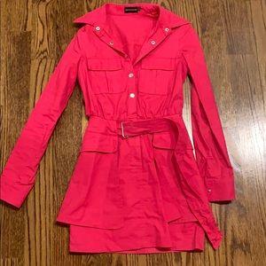 Hot pink dress!